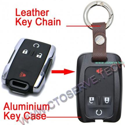 Aluminium Key Fob Covers for Chevrolet--HHYE0130